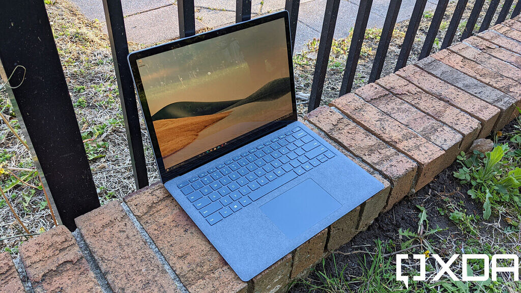 Surface Laptop 4 angled view