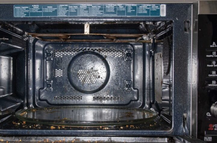 Here's how to clean a microwave